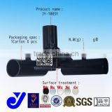 JY-1003Y|Y-shaped black metal fitting|Storage rack supported tripod|Coating pipe metal gasket