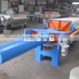 Automatic pressing by hydraulic system Automatic cloth shaking by air cylinder filter press