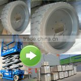 fast delivery good price genie part 94908 scissor lift solid tire wheel 22x7x173/4 8 holes 15x5 12x4.5