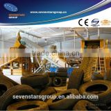 waste tyre recycling production line/scrap tyre recycling plant/old tyre recycling machine