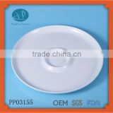 New products 2015 innovative product ceramic enamle egg tray,egg tray,round shape snack plate