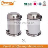 European Stainless Steel foot pedal garbage bin