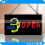 Waterproof outdoor LED signs for gas station /full color LED open display sign can be customized