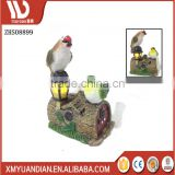 Factory Outlets Polyresin Gift Bird Design Energia Solar