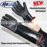 NMSAFETY neoprene chemical resistant gloves waterproof neoprene gloves chemical protective gloves