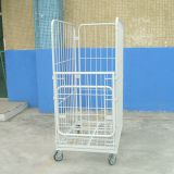 Industrial Warehouse Cage Trolley / Rolling Metal Storage Cage