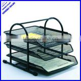 2015 best selling 3 tier office metal desk tray,3 layer file tray