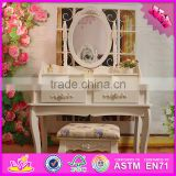 2016 wholesale high quality solid wooden make up vanity W08H058
