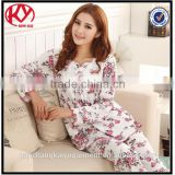 Factory direct sale women pajamas spring and autumn sleep wear clothes for girls cheap bulk night wear