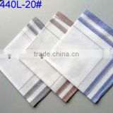 Men's Plain 100% cotton white handkerchief