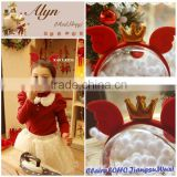 2014 alibaba Wholesale christams power wind with gold tiara headband