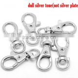 "Silver Tone Lobster Swivel Clasps For Key Ring 3.8x1.8cm(1-1/2""x3/4""),20PCs,Customize"