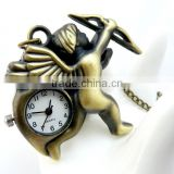 free shipping!!! 47*42mm cartoon angel pendant pocket watch @ mixed Antique Bronze Mechanical Locket Watch pocket
