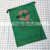 Wholesale cheap back santa super cotton sacks with drawstring christmas high quality canvas gift sacks bags