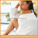 Wholesale customized bathrobe with edging 100% cotton soft touch