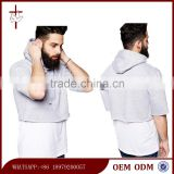 Men's New Fashion Crop Hoodie Short Sleeves Hoodie Wholesale