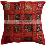2017 Handmade Indian Cotton Sari Patchwork Cushion Covers