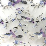 Lace Product Type and terial Brocade Fabric100% Polyester Lace Product Type bird pattern Ma