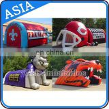 Inflatable large entrance tunnel, inflatable mascot tunnel with bear shape