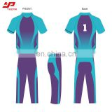 Fashion new arrival best quality breathable 100% polyester custom pattern cricket team uniforms
