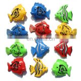 Fishing Game Magnetic Fishes Rainbow Colors Plastic Bath Toys for Child