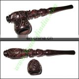 Handmade rosewood smoking pipe, size : 6 inch pipe