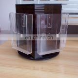 Black and clear PMMA magazine display rack plexiglass display holder acrylic magazine display stand