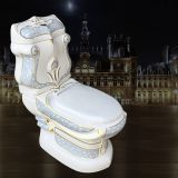 Sanitary ware bathroom good sale western two piece factory luxury colored toilet bowl for sale