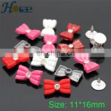 Wholesale fancy 10*16mm bow shape rivet rhinestone metal rivet for decorative