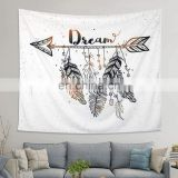 Custom Digital Printed Custom Logo Polyester elephant hippie wall tapestry printing