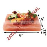 Himalayan Natural Crystal Rock Salt Tiles Plates Slabs Block Size 8 x 4 x .75 Inch for BBQ Barbecue Cooking searing Serving