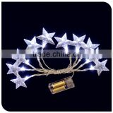 10LED Christmas star light battery operated powered wholesale