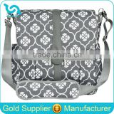 Large Capacility Diaper Wet Bag Baby Wet Diaper Bag Gray Floret Diaper Bag