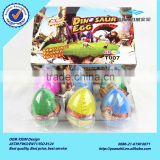 Fantastic custom realistic colorful T007 series 6*8cm dinosaur hatching eggs toy for children games