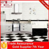 30x60cm ceramic wall and floor embossed black and white kitchen tiles