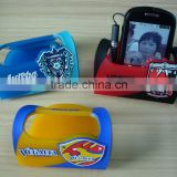 3D PVC custom design desk cellphone stander phone holder for promotional