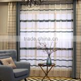 Mianma curtains lattice shading curtain High - grade living room modern striped cloth curtain