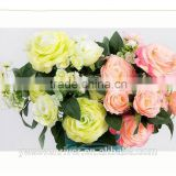 High-end European head of sichuan March 12 roses simulation plants plastic artificial flowers Yiwu simulation flower wholesale m