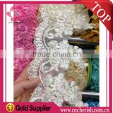 2016 fashion jacquard flower garment decorations bridal lace trim for wedding dress                                                                         Quality Choice