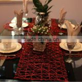 metallic table runner for christmas