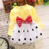 butterfly girls dresses kids autumn clothes 75-105cm four colors