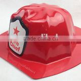 hot sales plastic toy KIDS FIREMAN HAT Fire Chief Party Cap Helmet Costume Dress Up Halloween BULK HT190