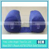 EN71 6P PVC Inflatable travel cushion flocked PVC inflatable head neck rest pillow                                                                         Quality Choice