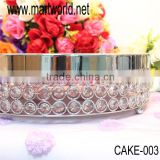Royal crystal round cake stand for home & party & hotel & banquet & wedding decoration,gergeous wedding cake stand (CAKE-003)