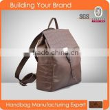 3355-2016 Brown top selling high end real leather backpack OEM/ODM women's backpack                                                                         Quality Choice