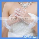 Hogift New Arrival Applique Lace Bridal Glove Wedding Accessory
