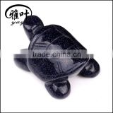 Hand Carved Stone Animal Figurines Blue Sand Stone Turtles Figurines