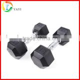 Gym Equipment Rubber Coated Hex Dumbbell