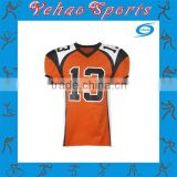 Latest custom made american football jersey with player number printing