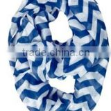 most popular fashionable chevron infinity scarf